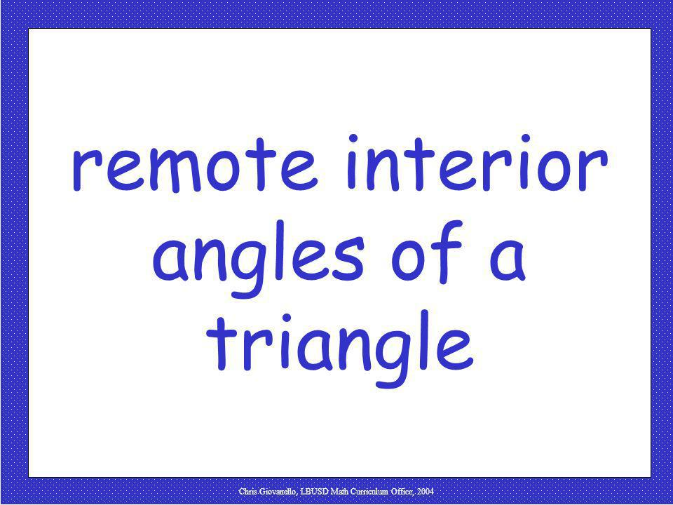 remote interior angles of a triangle