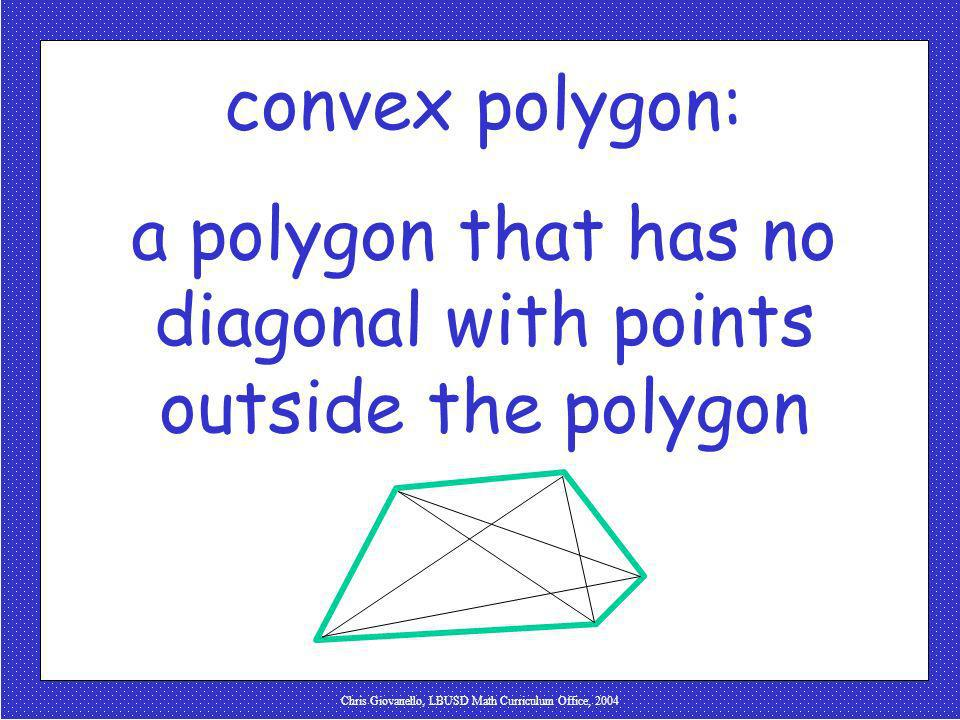 a polygon that has no diagonal with points outside the polygon