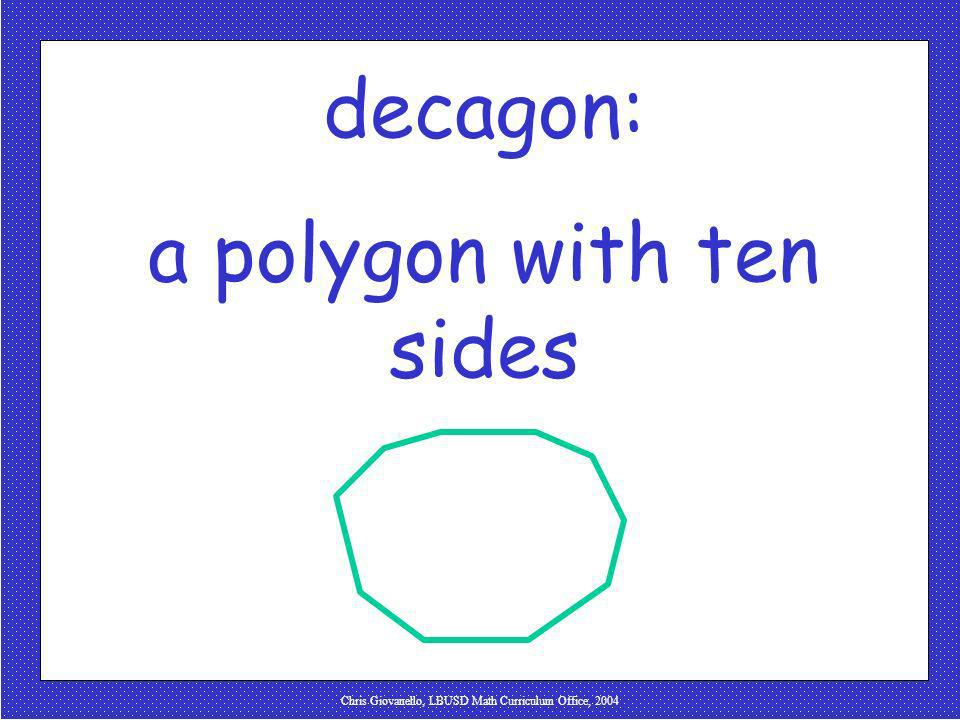 a polygon with ten sides