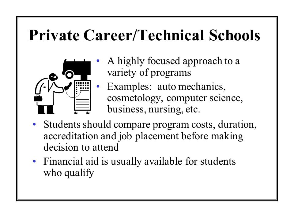 Private Career/Technical Schools