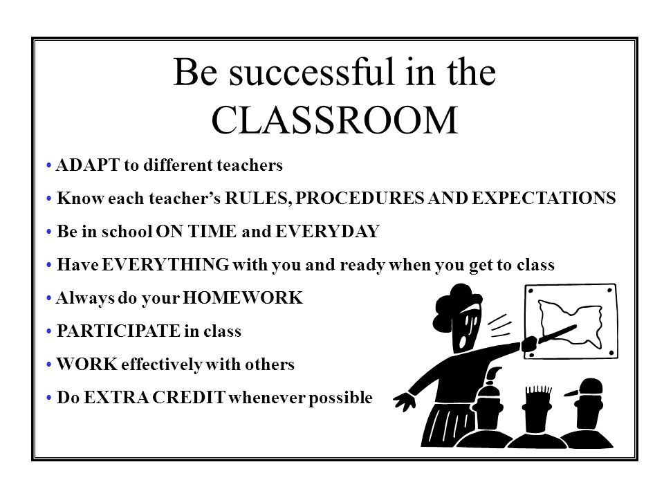 Be successful in the CLASSROOM