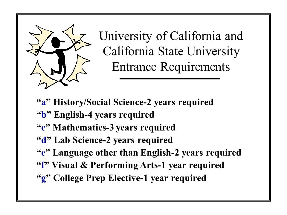 University of California and California State University Entrance Requirements