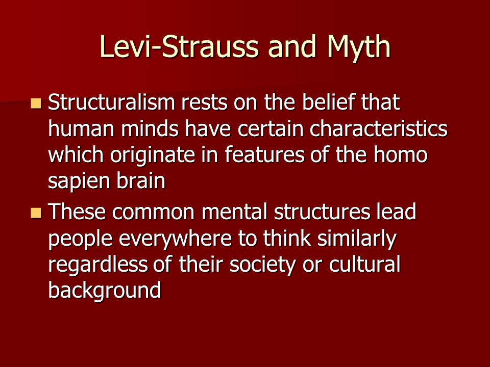 the different views on myths by edmund leach Claude lévi-strauss, 100, dies altered western views this was quite different from what most the cambridge university anthropologist edmund leach wrote.