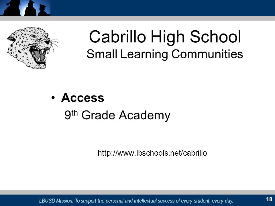 Cabrillo High School Small Learning Communities