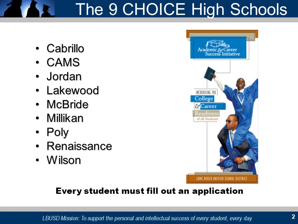 The 9 CHOICE High Schools