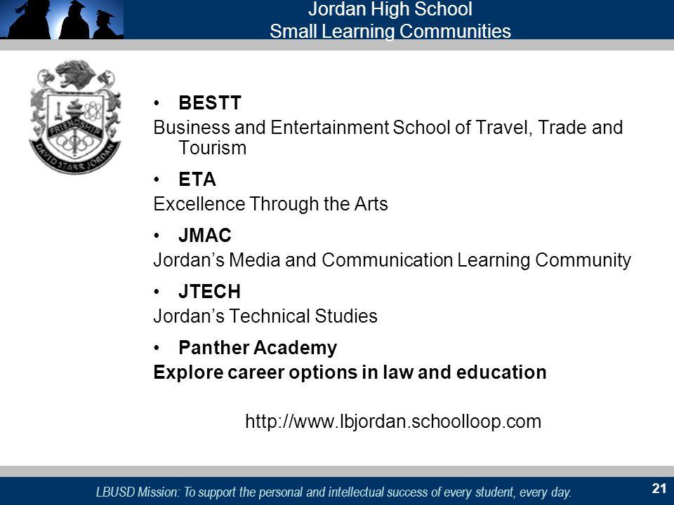 Jordan High School Small Learning Communities