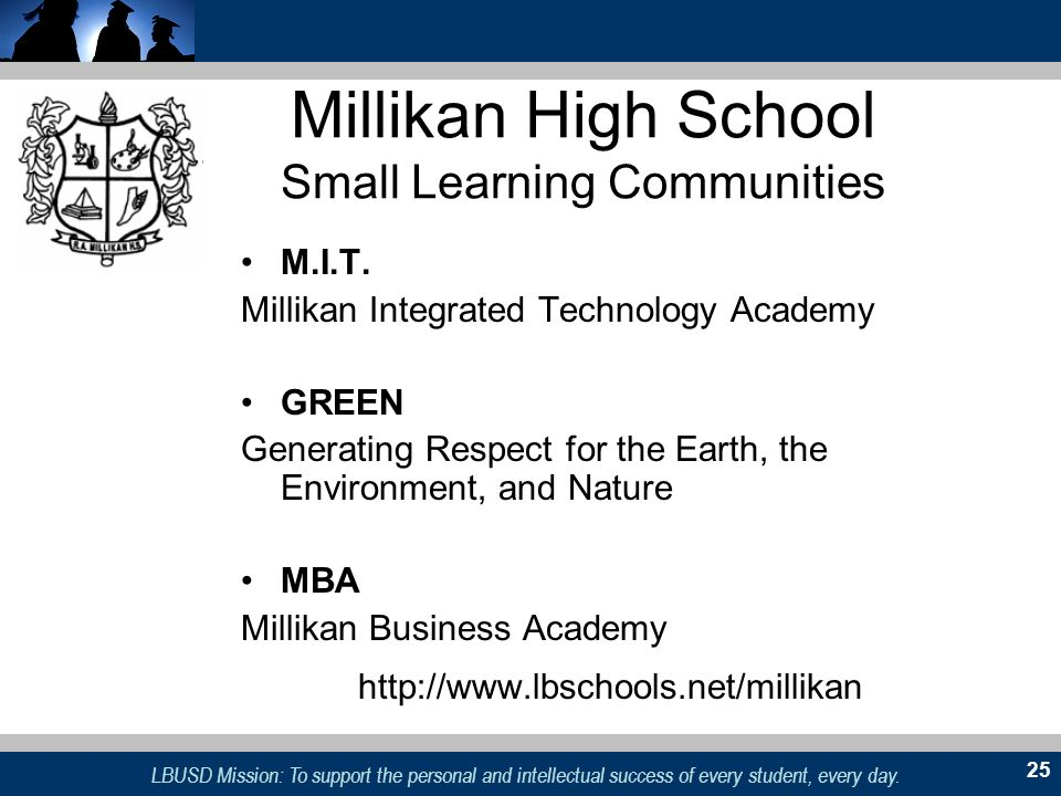 Millikan High School Small Learning Communities
