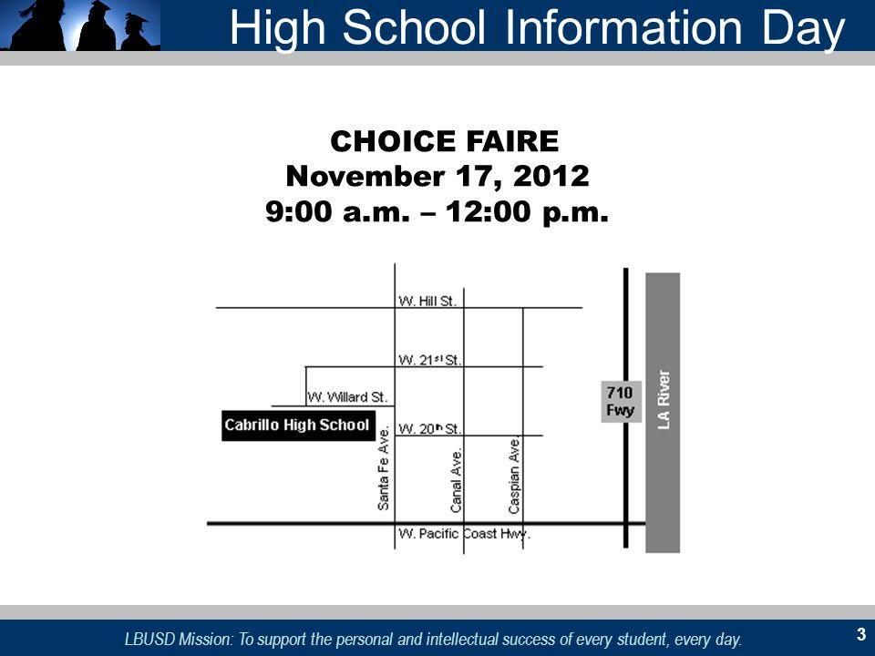 High School Information Day