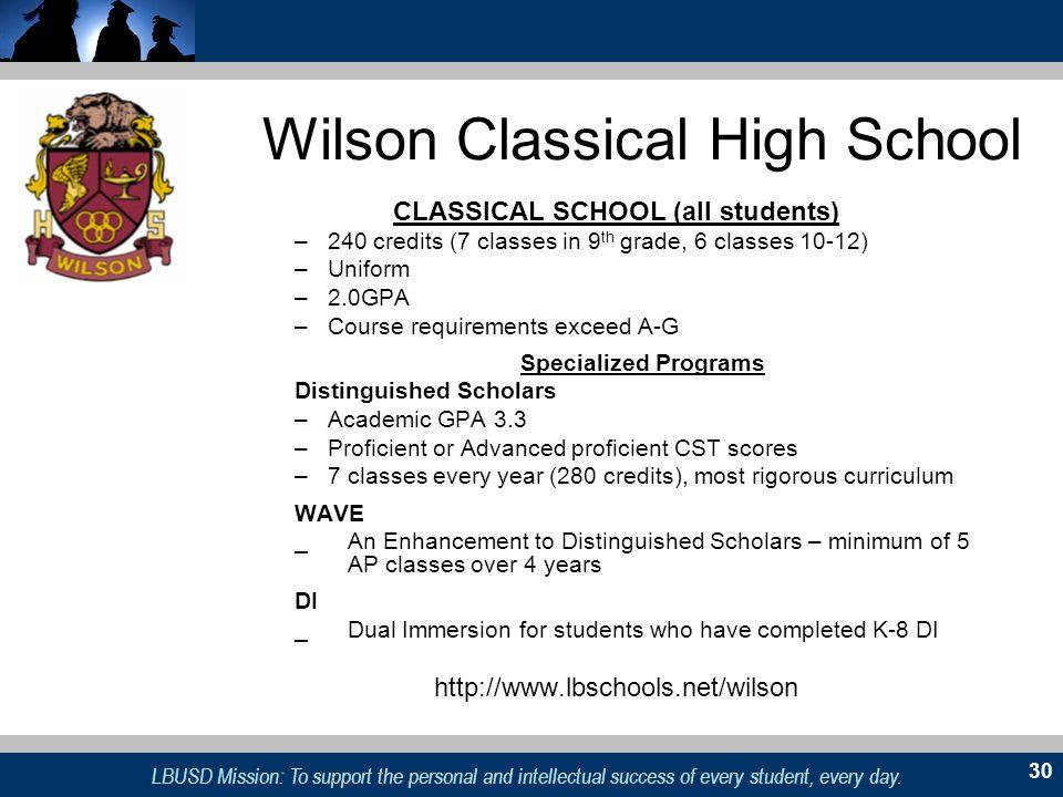 Wilson Classical High School
