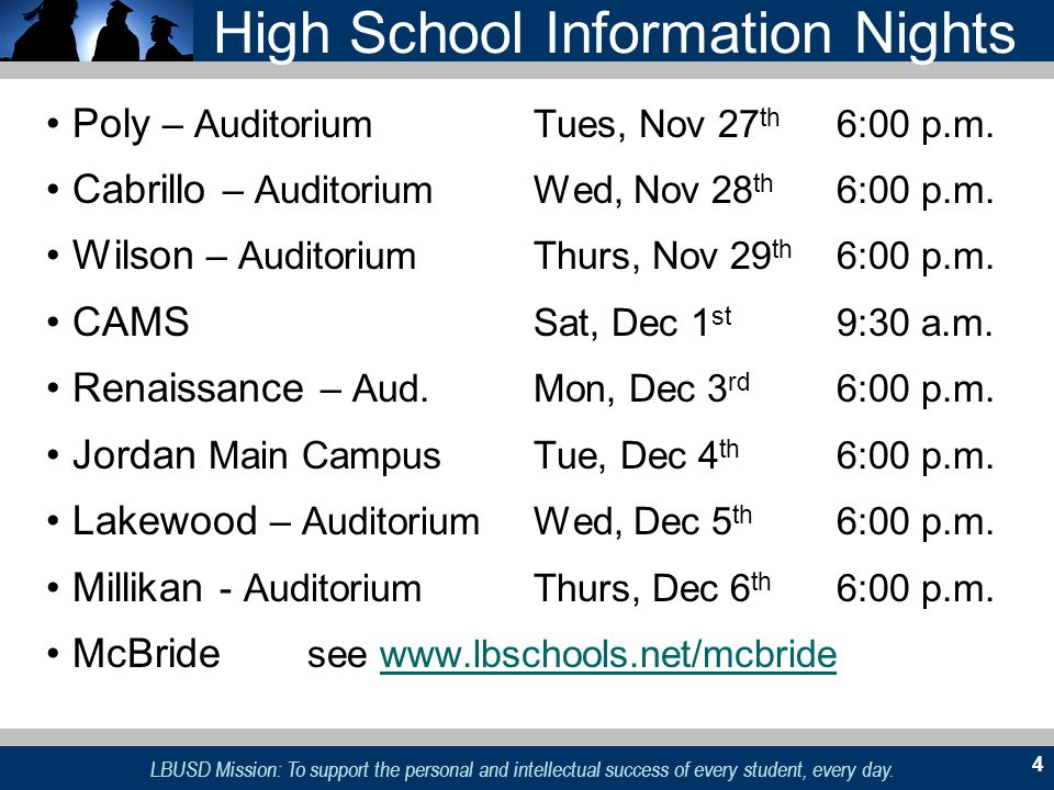 High School Information Nights