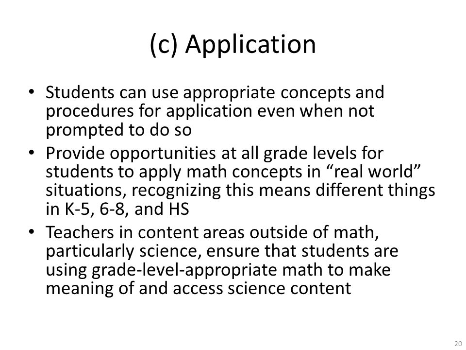 Common Core State Standards for Mathematics: Shifts and Implications for Math Instruction