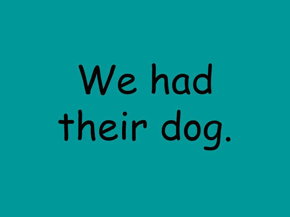We had their dog.