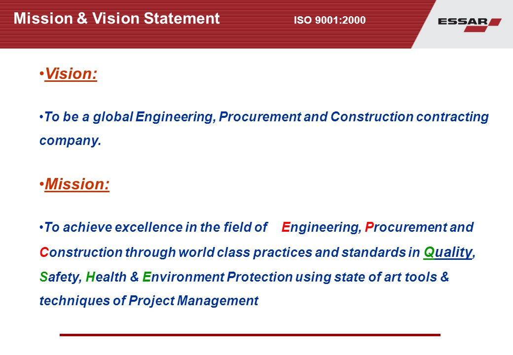 Quality management system ppt download - Project management office mission statement ...