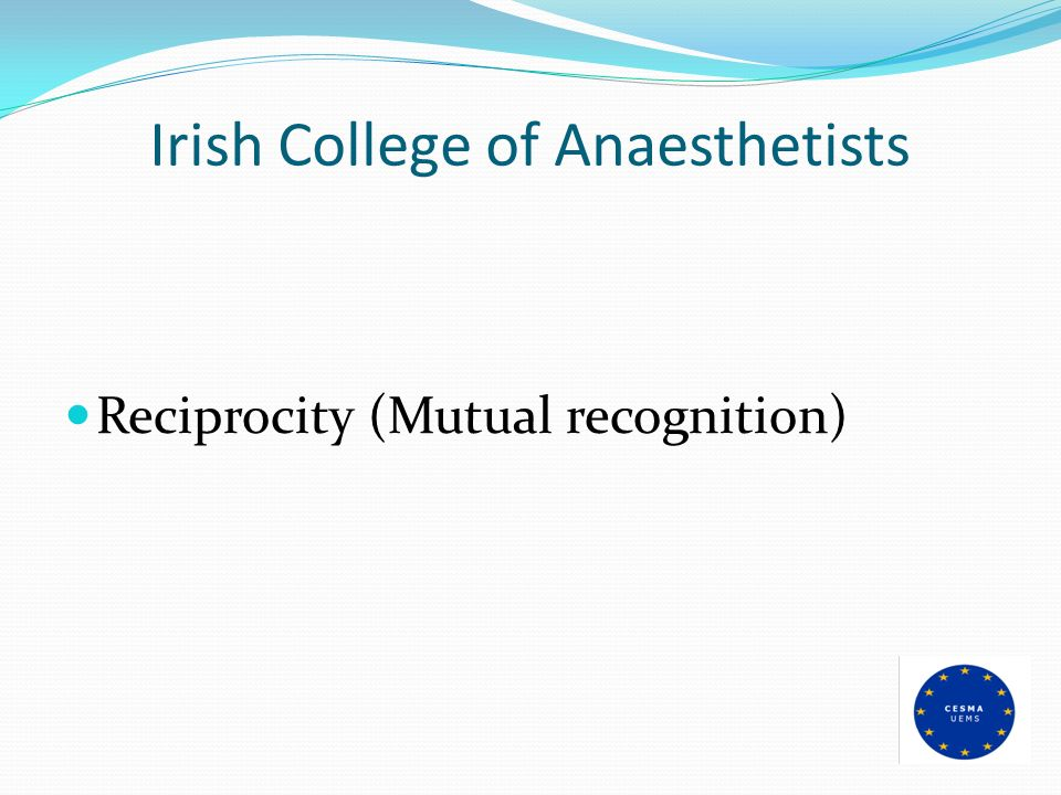 Irish College of Anaesthetists