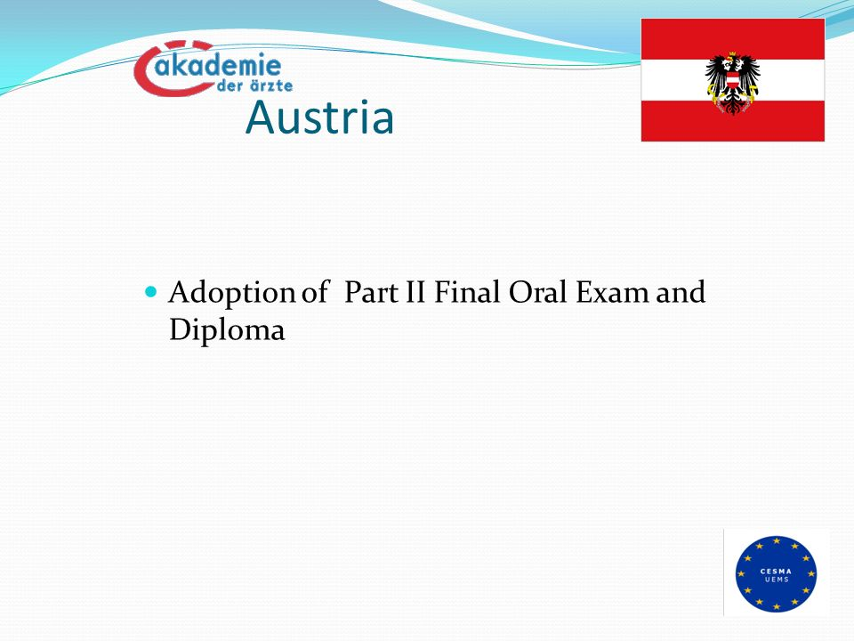 Austria Adoption of Part II Final Oral Exam and Diploma