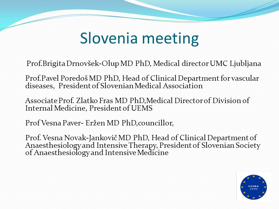 Slovenia meeting