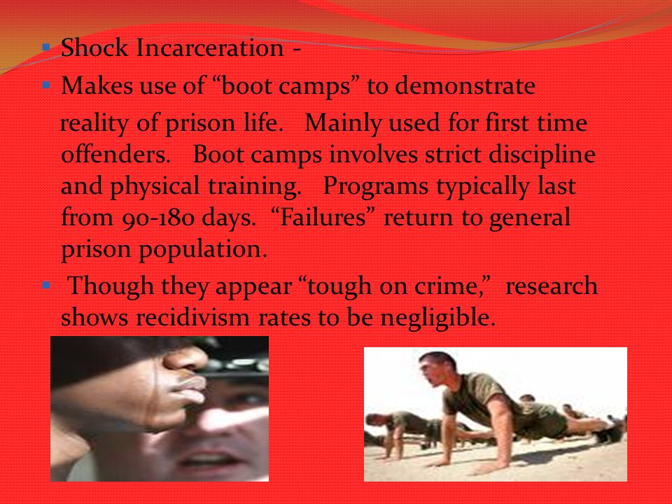 The effectiveness of probation boot camps