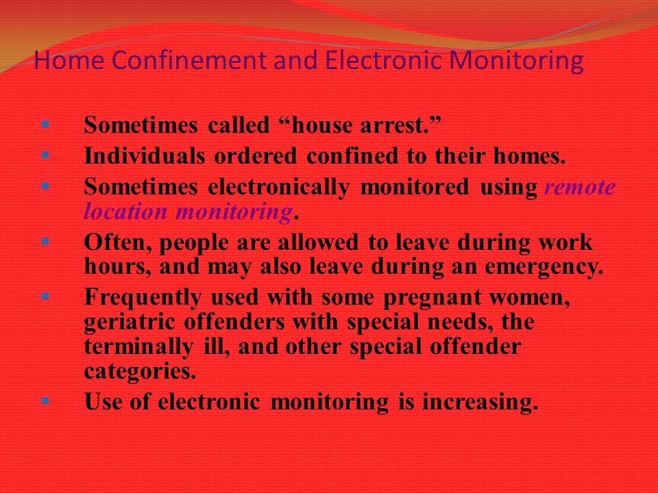 Monitoring offenders