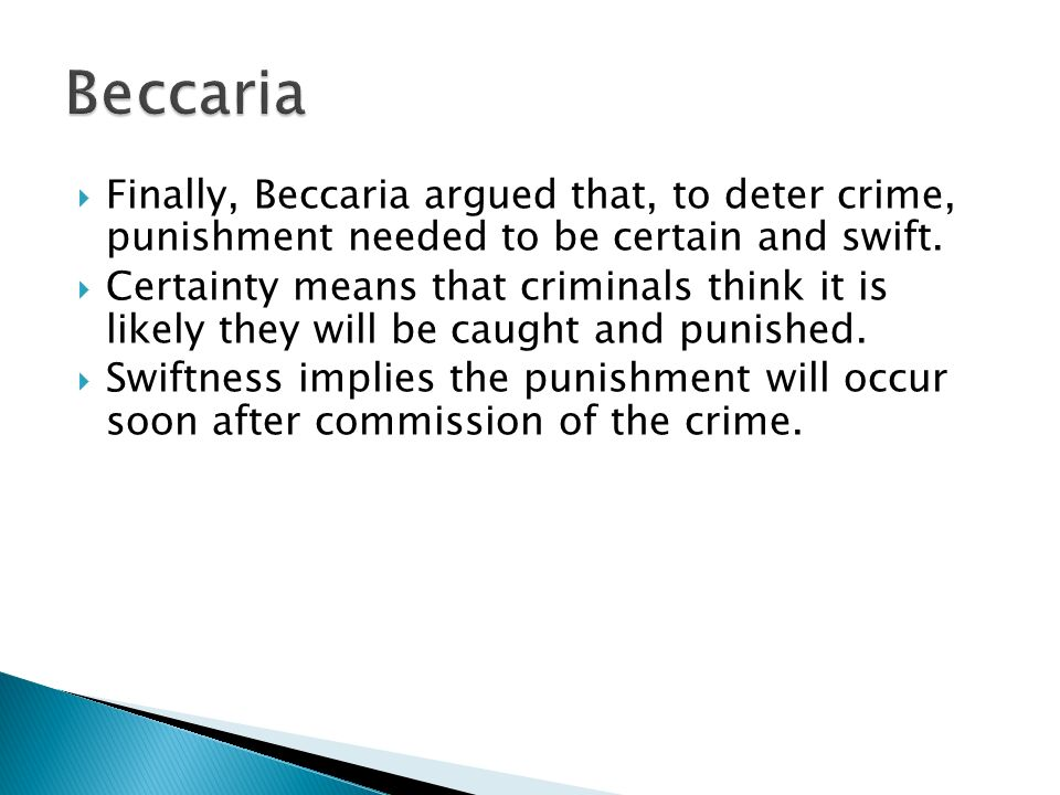 beccaria essays on crime and punishment Source: cesare beccaria, an essay on crimes and punishments, translated  from the italian, the third edition, london, 1770 see also: cesare beccaria,.