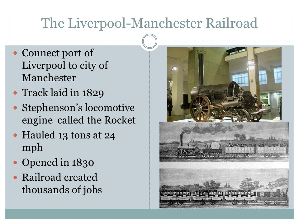 The Liverpool-Manchester Railroad