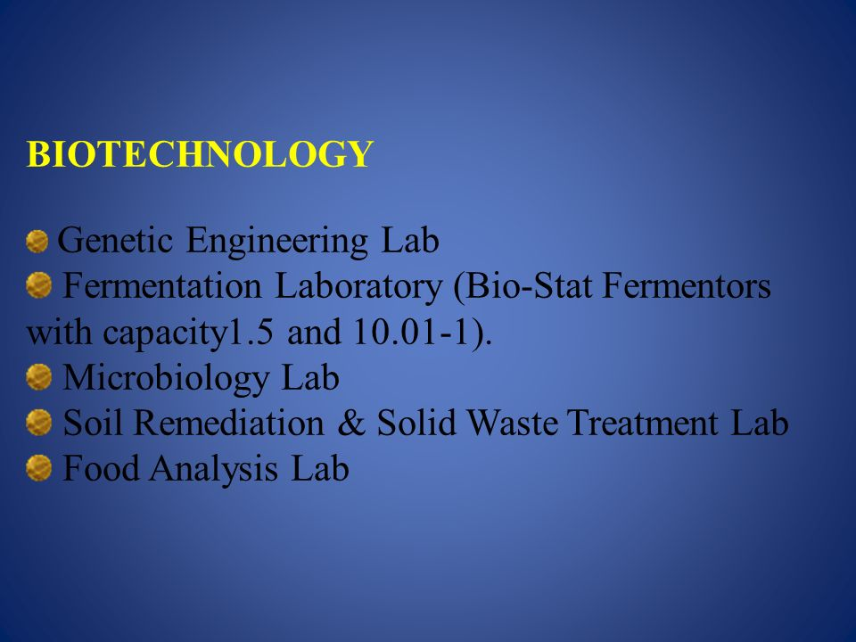 Soil Remediation & Solid Waste Treatment Lab Food Analysis Lab