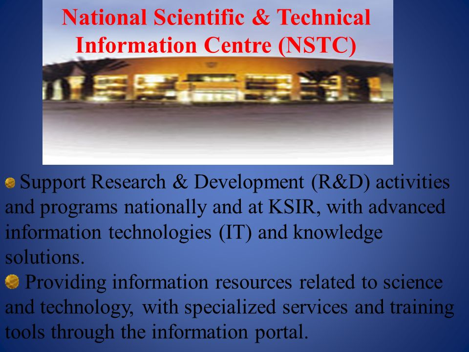 National Scientific & Technical Information Centre (NSTC)