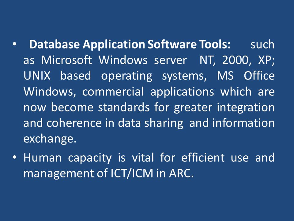 Database Application Software Tools: