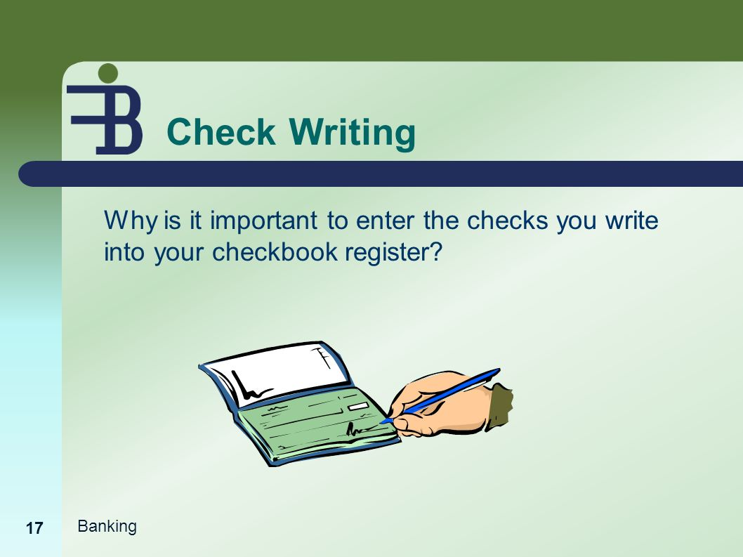 Checkbook register worksheet quiz