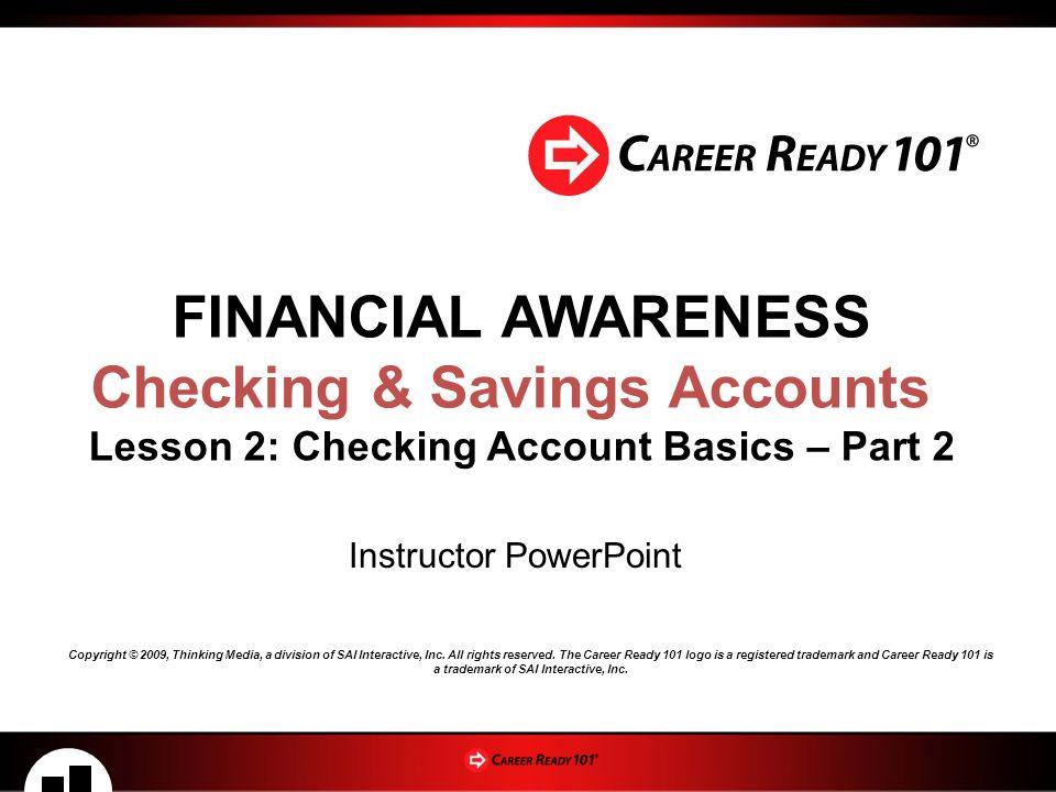 checking savings accounts lesson 2 checking account basics part