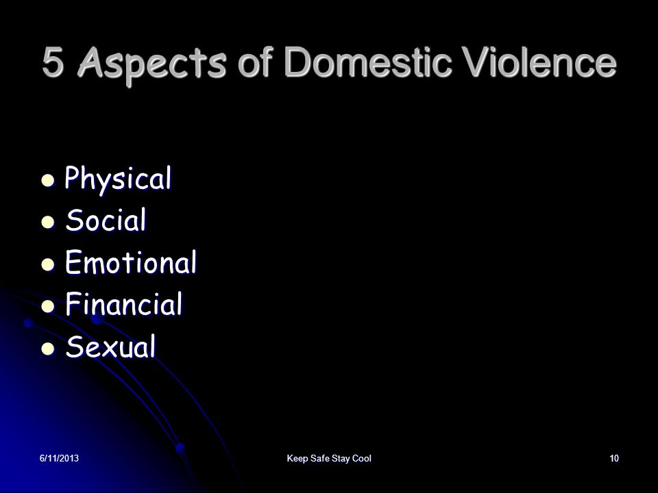 5 Aspects of Domestic Violence