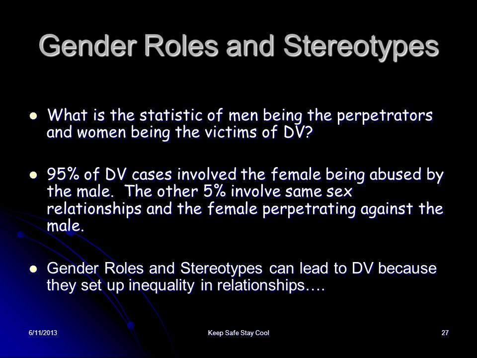 Gender Roles and Stereotypes