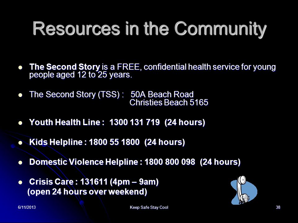 Resources in the Community