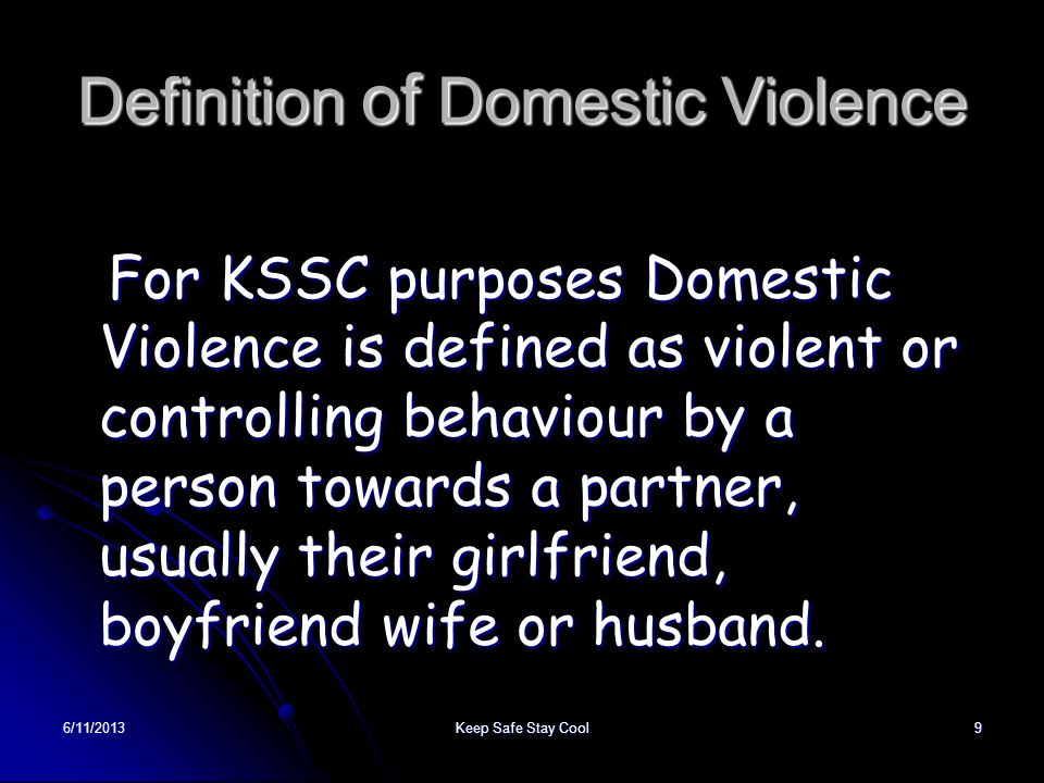 Definition of Domestic Violence