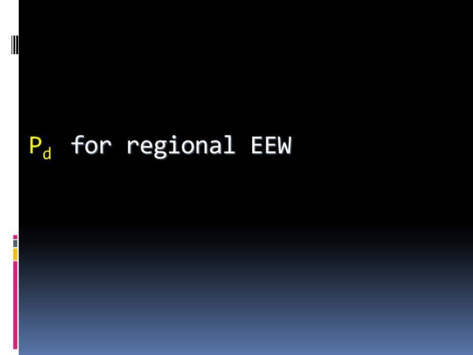Pd for regional EEW