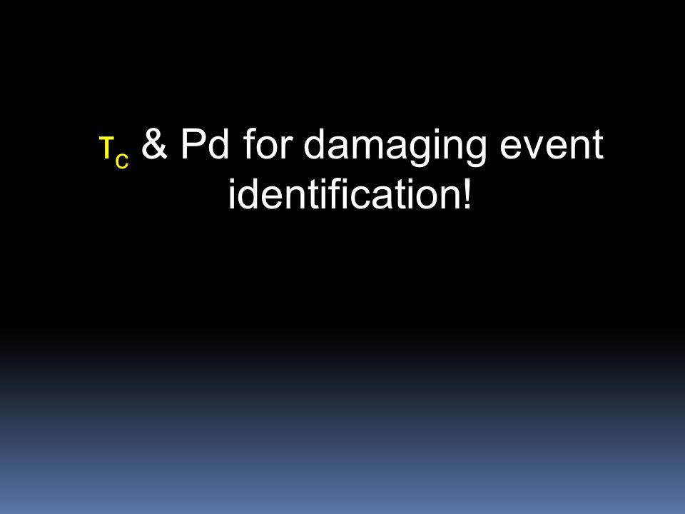 τc & Pd for damaging event identification!