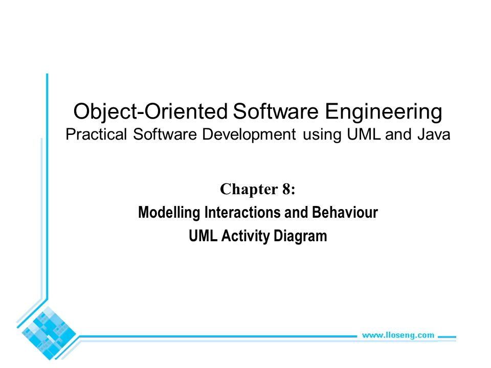 Chapter 8 Modelling Interactions And Behaviour Uml Activity Diagram