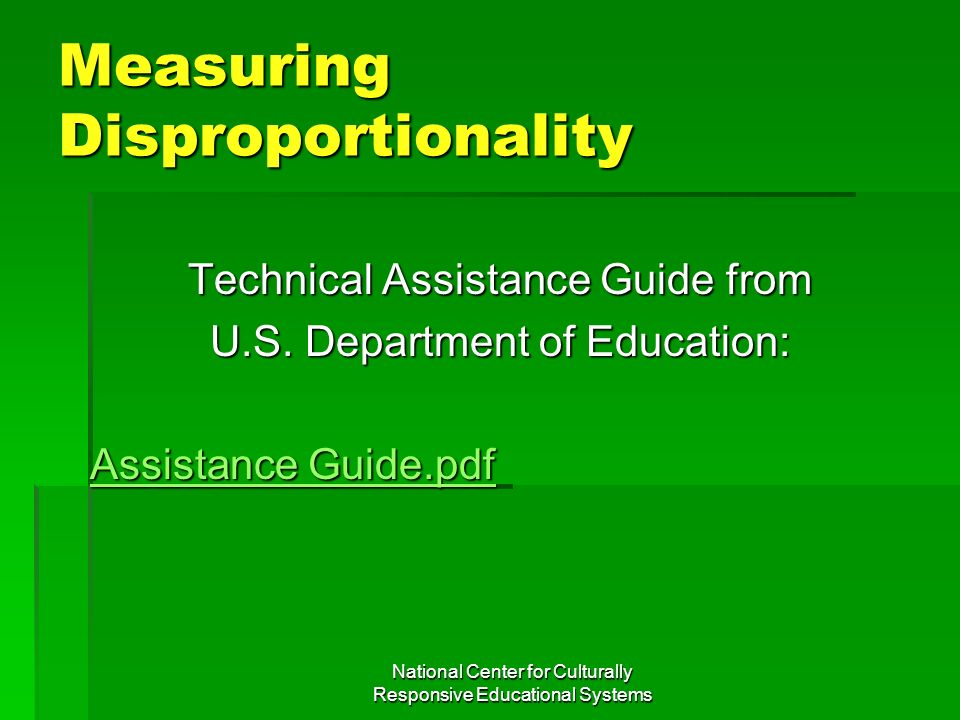 Measuring Disproportionality