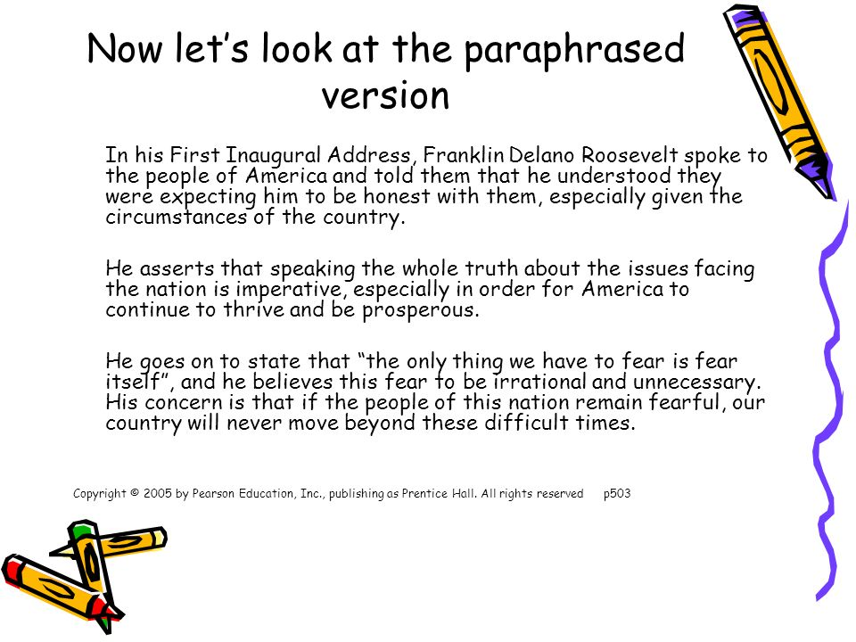 Paraphrasing in english ppt