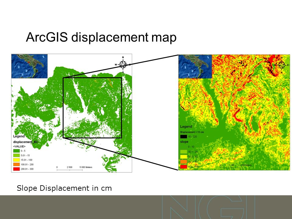 ArcGIS displacement map