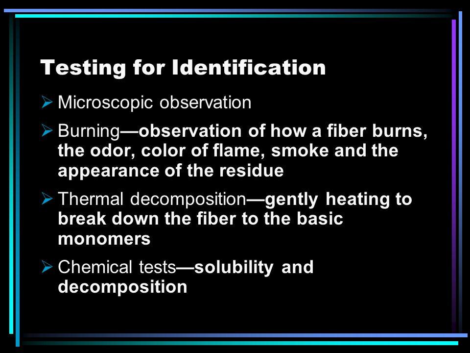 Testing for Identification