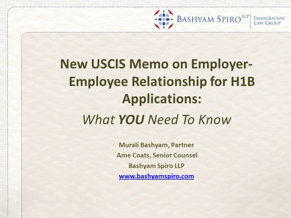 h1 rfe employer employee relationship in the philippines