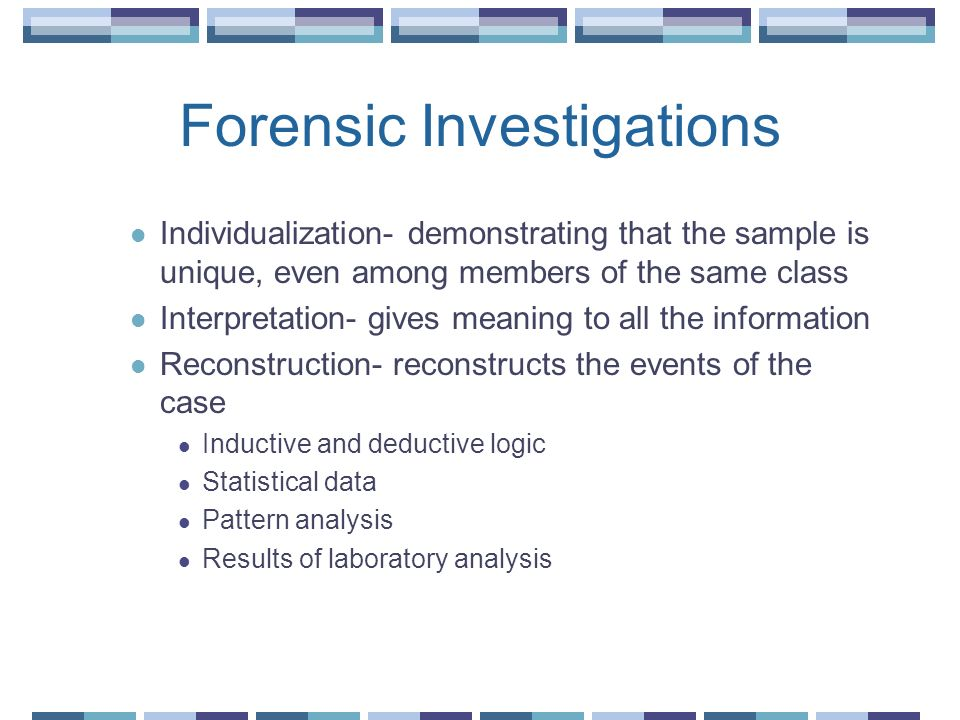 Forensic Investigations