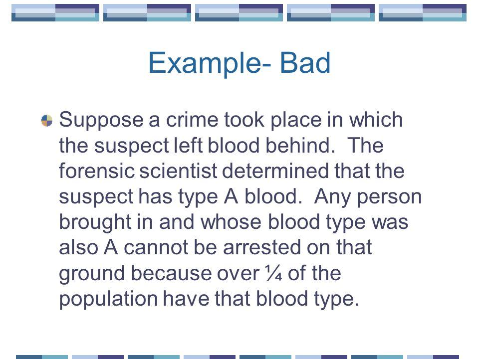 Example- Bad
