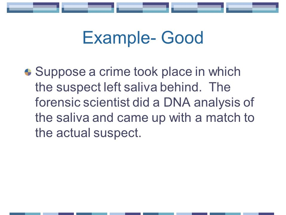 Example- Good