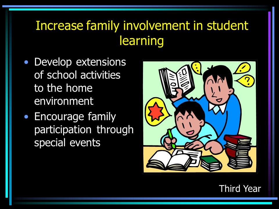Increase family involvement in student learning