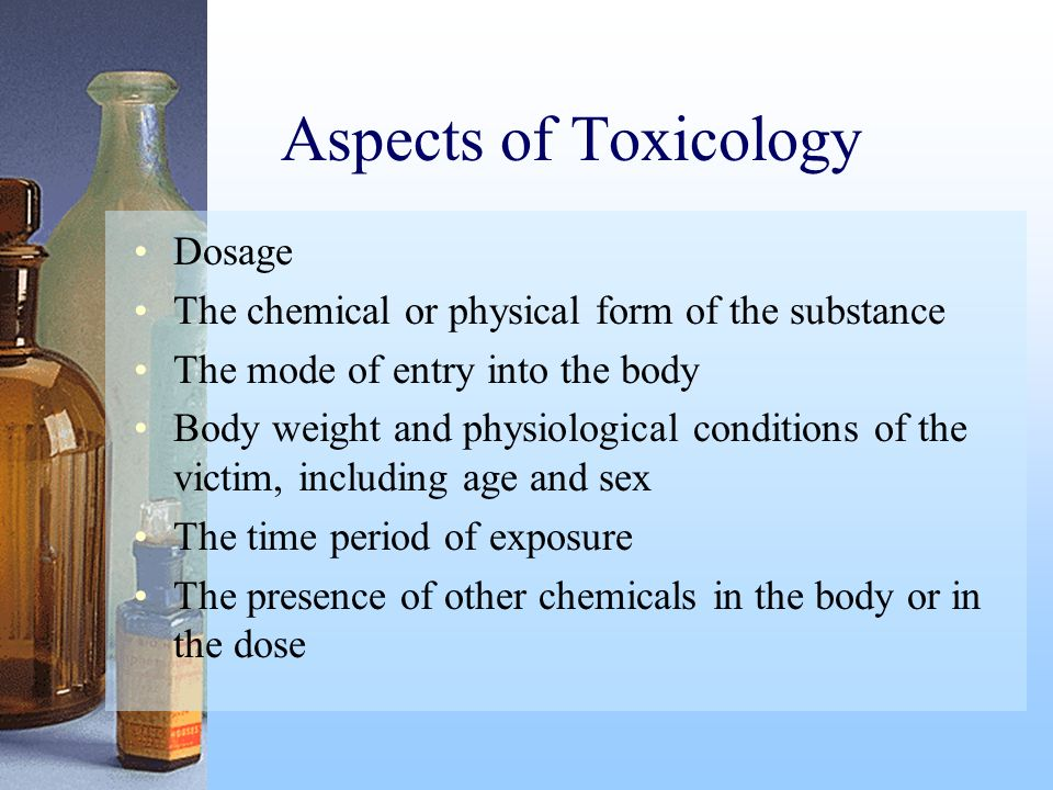 Aspects of Toxicology Dosage