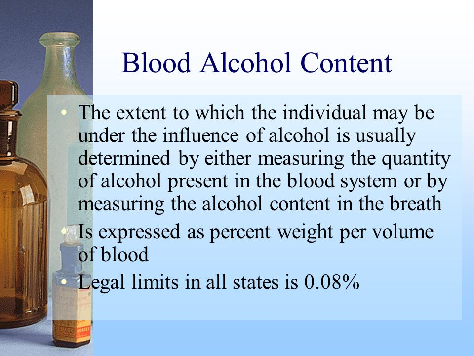 Blood Alcohol Content