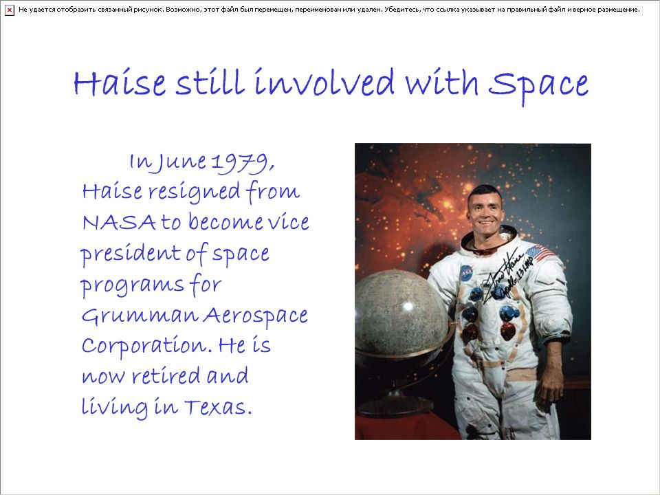Haise still involved with Space