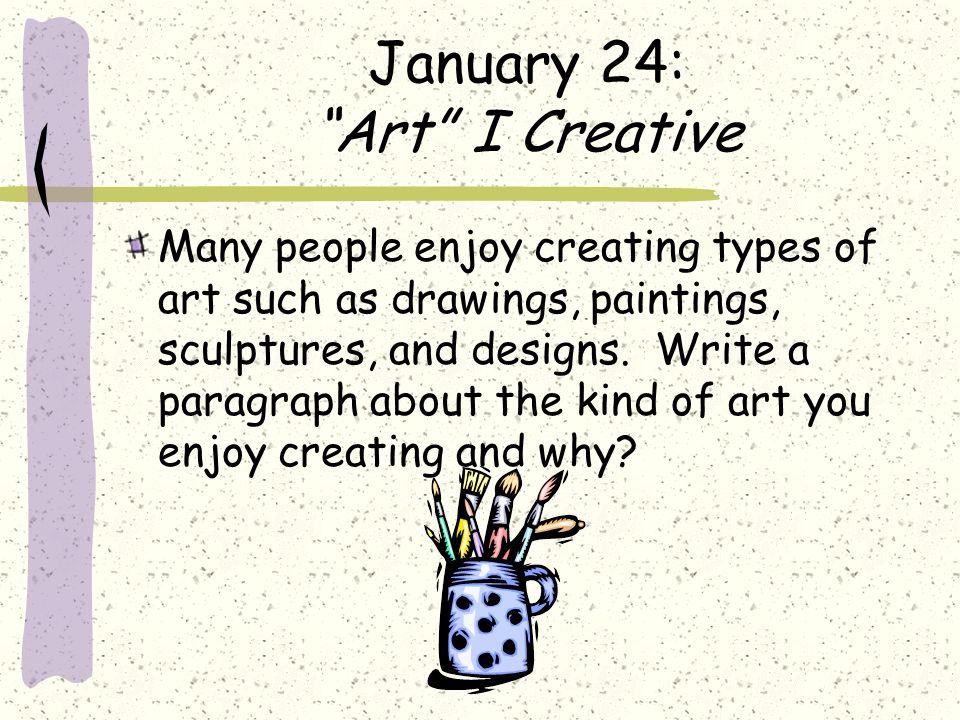 January 24: Art I Creative