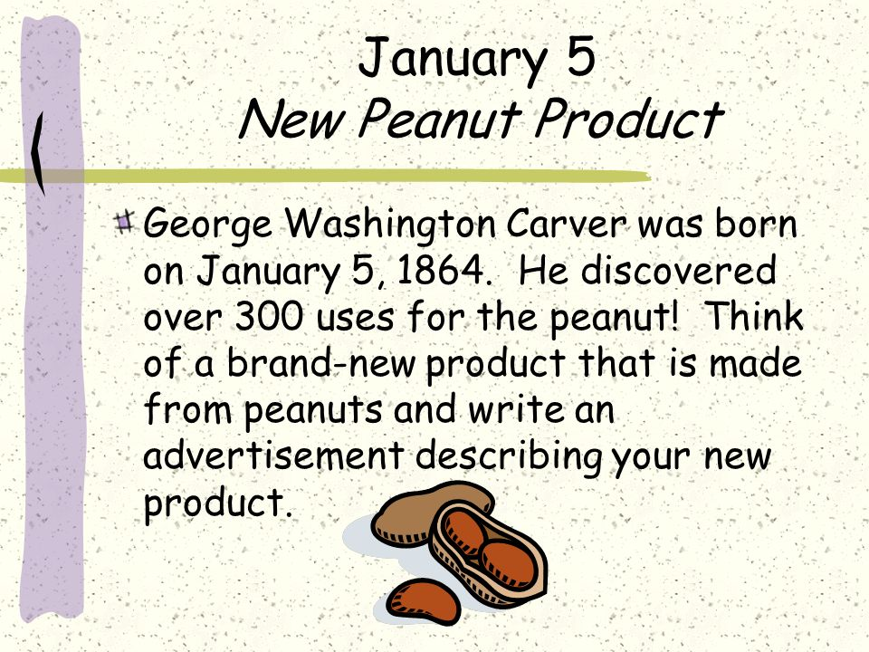 January 5 New Peanut Product